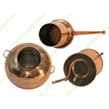 40 L Kupfer-Destillierkolben Arabischer Helmstil Premium