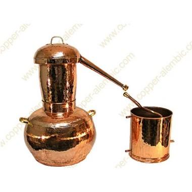 300 L Kupfer-Destillierkolben Arabischer Helmstil Premium