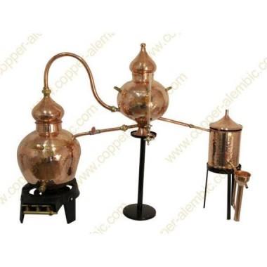 20 L Charentais Copper Alembic Still Premium & Gas Burner
