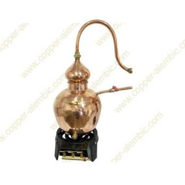 20 L Alambique de Cobre Tradicional Charentais Premium Queimador a Gás