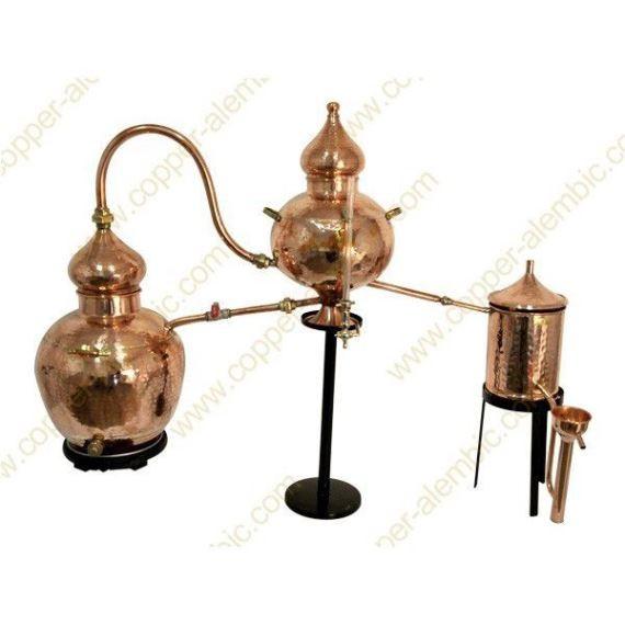 20 L Kupfer-Destillierkolben Charentais Premium (elektrische Platte)