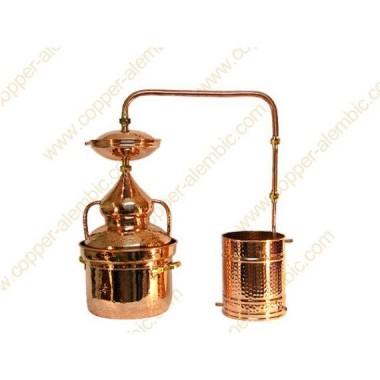 15 L Kupfer-Destillierkolben Wasserdichtsystem Premium
