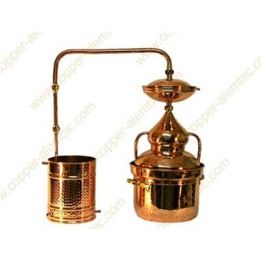 25 L Alambique de Cobre Sistema Vedação de Água Premium