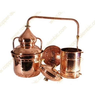 25 L Kupfer-Destillierkolben Wasserdichtsystem Premium
