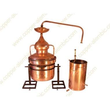 50 L Water Sealing Alembic Still System, Refining Lentil & Metal Axle