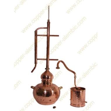 30 L Kupfer-Destillierkolben Rücklaufsystem Komplett