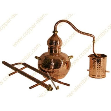 60 L Kupfer-Destillierkolben Rückflusssystem Komplett