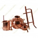 60 L Reflux Column & Soldered Moonshine Distiller Set Premium
