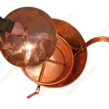 45 L Casserole De Brassage En Cuivre Complet