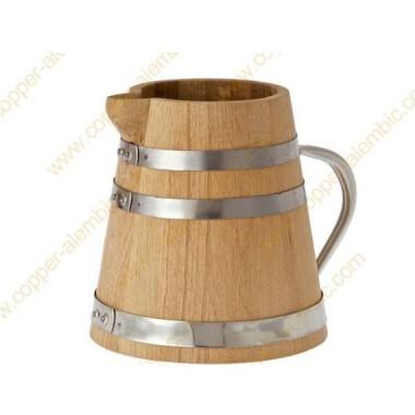 1,5 L Krug aus französischer Eiche mit 4 Tassen