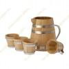 2,5 L Pot en Chêne Français avec 4 Tasses