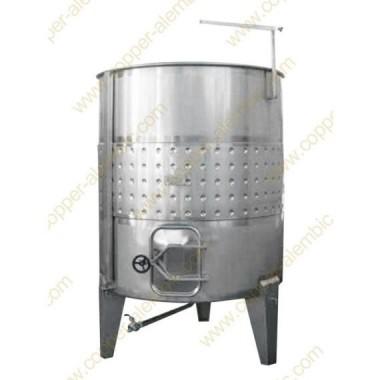 Pneumatischer 1000 L Tank mit Kühlungsmantel - Hoch