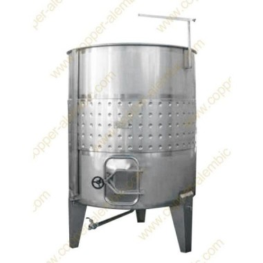 Pneumatischer 1000 L Tank mit Kühlungsmantel – Kurz