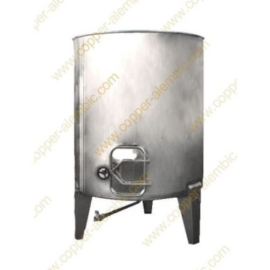 2500 L Pneumatic Vats Inclined Bottom without Cooling Jacket
