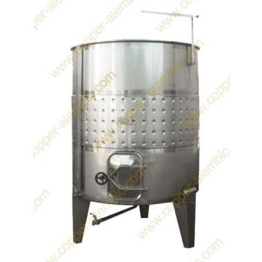 Pneumatischer 1500 L Tank mit geneigtem Boden und Gärungsmantel