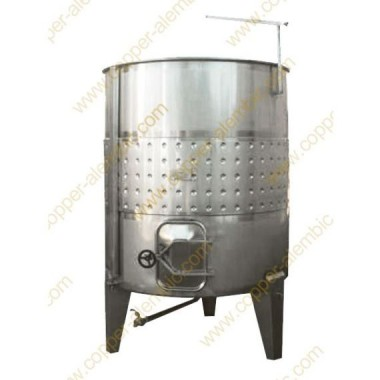 2500 L Pneumatic Inclined Bottom Vats with Cooling Jacket