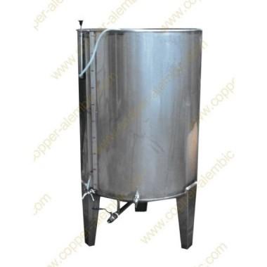 Pneumatischer 100 L Tank mit Ventil ohne Kühlungsmantel - Hoch