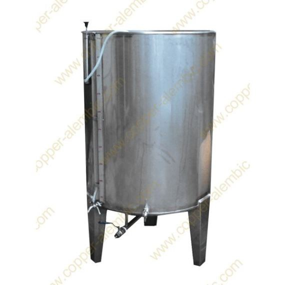 200 L Pneumatic Vat with Valve without Cooling Jacket Tall