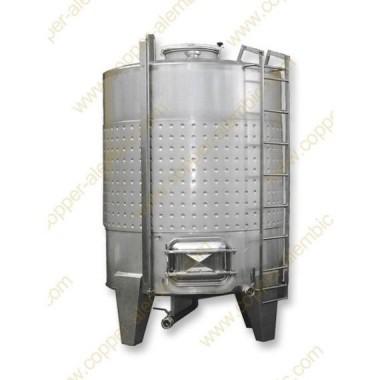 7500 L Cuve avec Chemise de Fermentation