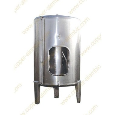 7500 L Conical Bottom Stainless Steel Vats