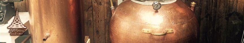 Kupfer-Destillierkolben Wasserbad