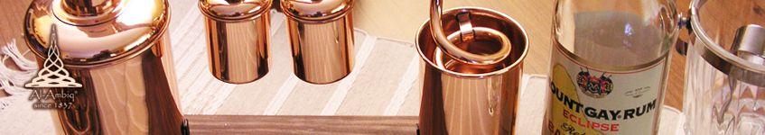Dekorative Destillierkolben und Alquitara Brennerei