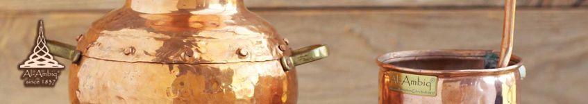 Kupfer-Destillierkolben mit Nietverbindungen